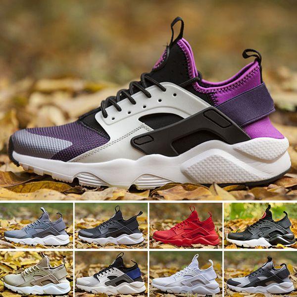 2018 Yeni Huarache Ultra Koşu Ayakkabıları 4 Erkekler Ve Kadınlar Atletik Huaraches Sneakers Meme Kanseri Huraches Spor Eğitmenler Ayakkabı Boyutu 36-45