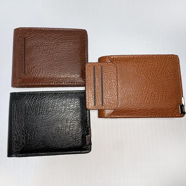 Nuovo portafoglio da uomo borsa multi-funzione corta da uomo in dollari versione coreana di un portafoglio in PU a breve paragrafo