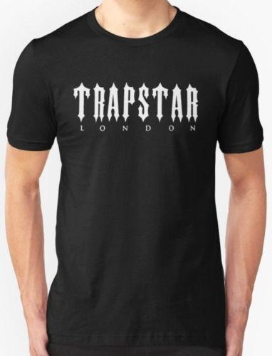 2018 High quality Brand Men New Trapstar London Men's Clothing T-Shirt size funny gift Short short Sleeve T-Shirt Tops Round Neck Tees