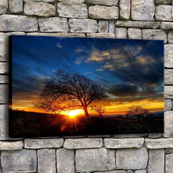 Wall Art Canvas Paintings Frame 1 Piece Beautiful Earth Tree Sunset Natura Immagini Living Room Prints Scenery Poster Home Decor