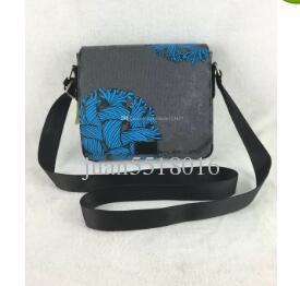 Nice NEW Luxury Brand MEN COBALT COATED CANVAS DISTRICT PM MESSENGER BAG DISTRICT Men Shoulder Messenger Rope Messenger Bag N51615
