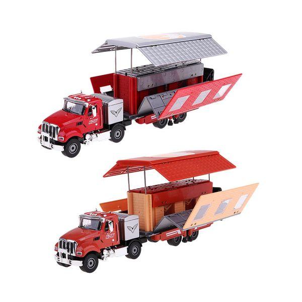 1:50 Mini Auto-Caravan Die-cast Recreational Car Vehicle Model Educational Toys Birthday Gift for Children Kids Toddler
