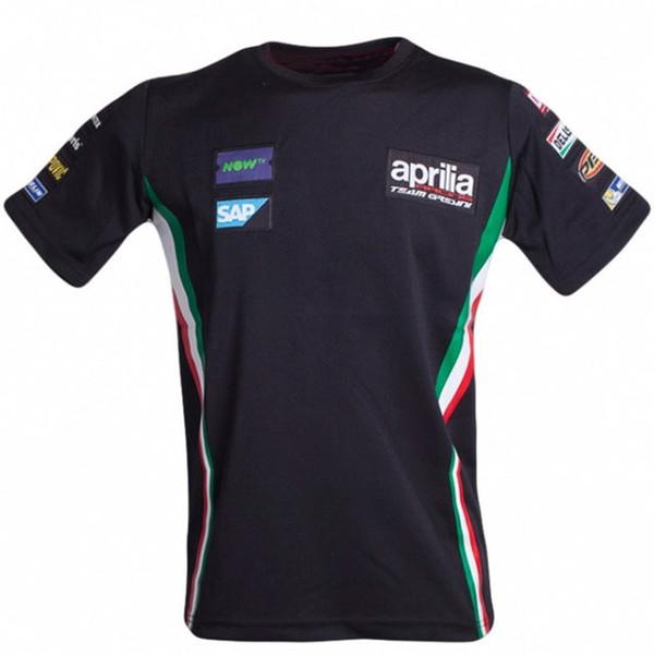 Camisetas de motocross de MotoGP Camisetas Sudadera de bici de dirt downhill Camisetas de ATV Camiseta del equipo de motocicletas aprilia Aliento de secado rápido