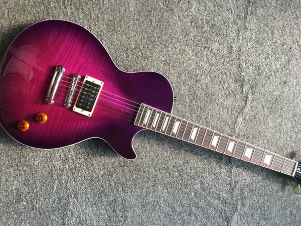 Custom Shop Limited VOS purple Burst One Pickup Electric Guitar Best Musical instruments Free Shipping
