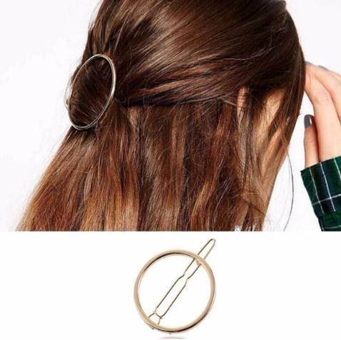 2019 New Fashion Round Hair Jewelry Women Girls Metal Circle Clips Metal Circle Hairpins Holder Accessories