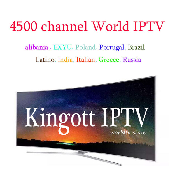 KING Iptv Subscription French Arabic Italian Spanish 4500 Channels 1 Year  Free For Apple Tv Fire Stick Android Tv Box Best Home Theatre Best Home