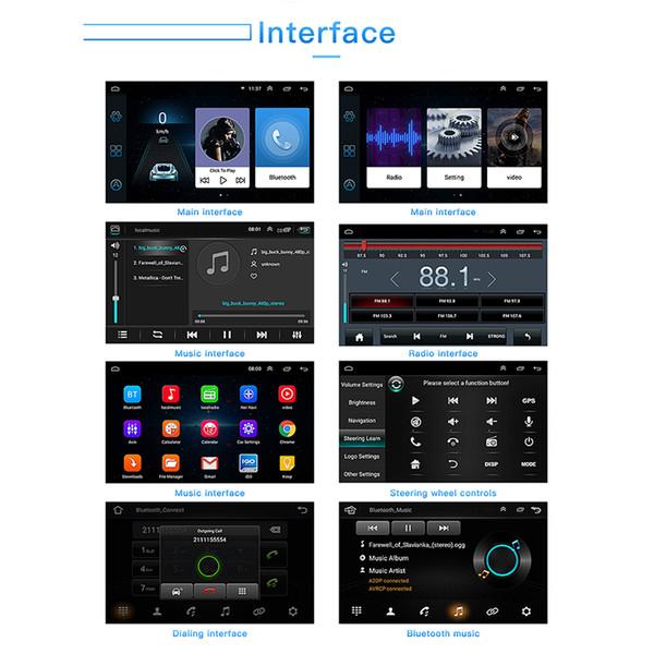 Für Android 8.1 Autoradio-Player LCD-Bildschirm 7 Zoll 1024 * 600 Ersatzzubehör Double din Navigation