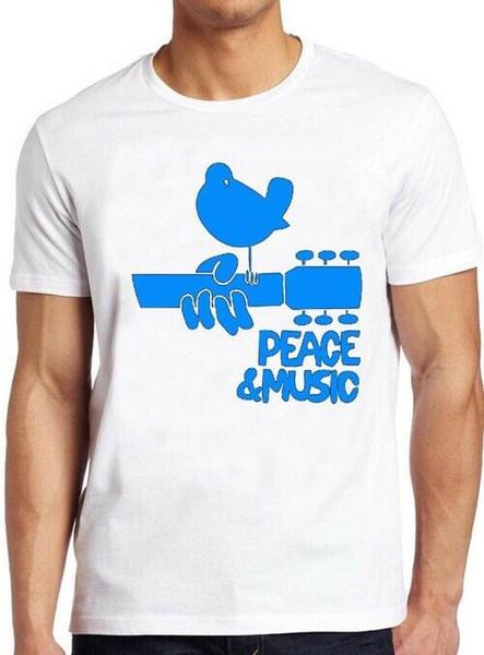 Woodstock T Shirt Vintage Festival Folk rock blues 60s fresca del regalo T 124