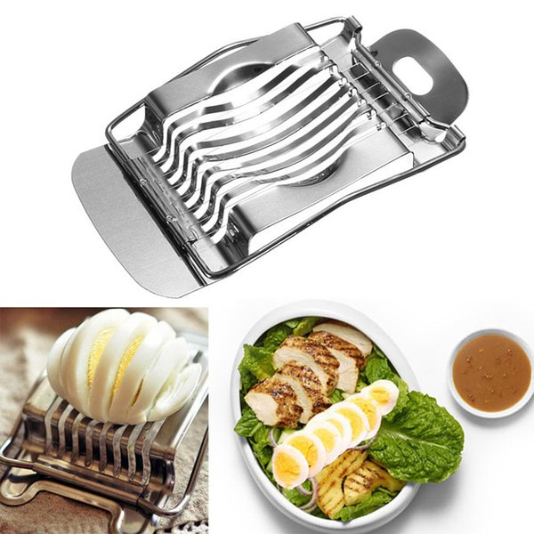 1Pcs Stainless Steel Boiled Egg Slicer Section Cutter Mushroom Tomato Cutter Kitchen Tool New Kitchen Accessories