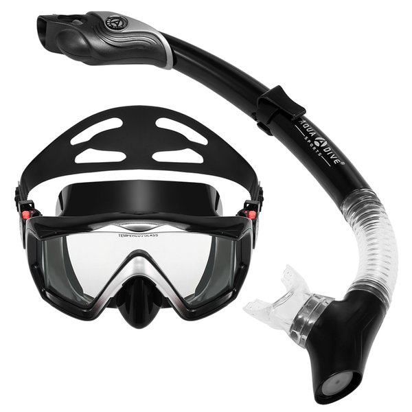 Three-window Snorkeling Scuba Diving Mask Anti-fog Snorkel Goggles Swimming Mask Spearfishing Glasses Underwater Dive Equipment