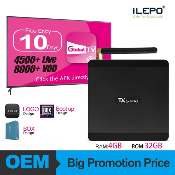 France arabic iptv abonnement TX5 Max Android 8.1 TV Box With Amlogic S905X2 4GB 32GB 2.4G and 5G Dual Band Wifi iptv poland europe Live VOD