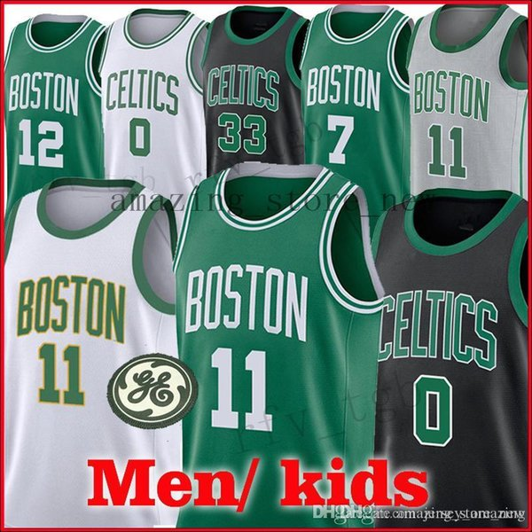 brand new 098f2 f047f 2018 11 Kyrie Irving Boston Celtics Jerseys Men 0 Jayson Tatum Jersey 7  Jaylen Brown Irving 33 Larry Bird From Super_perfect_shops, $15.62 | ...
