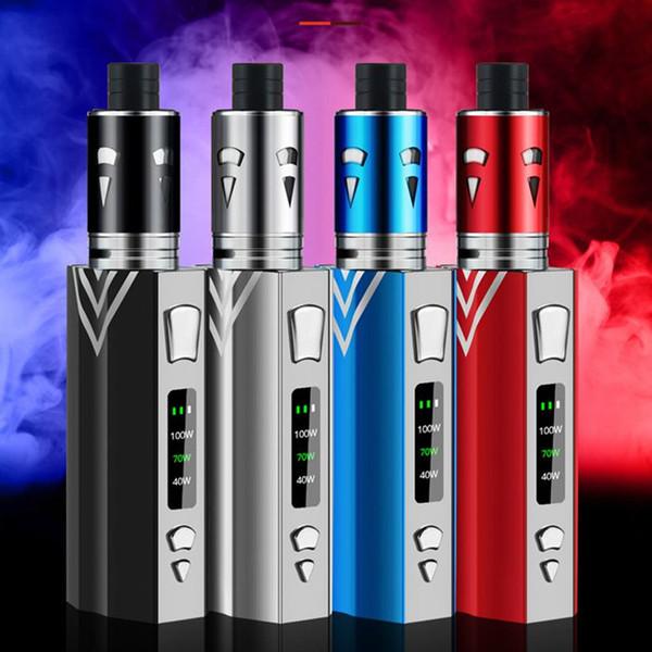 100 Watt Vape Elektronische Zigarette Kit 2200 mah Verdampfer Für Flüssigkeitskasten Mod Rauch Vaper Vape Stift Riesige Vaporizer E-zigarette