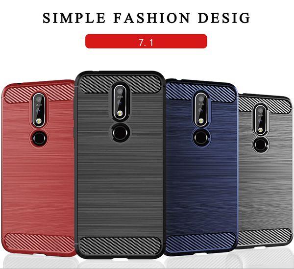 Para nokia soft tpu phone case para nokia 7.1 7 plus x7 3.1 plus x6 x3 x5 3 2 8 5 tampa do telefone