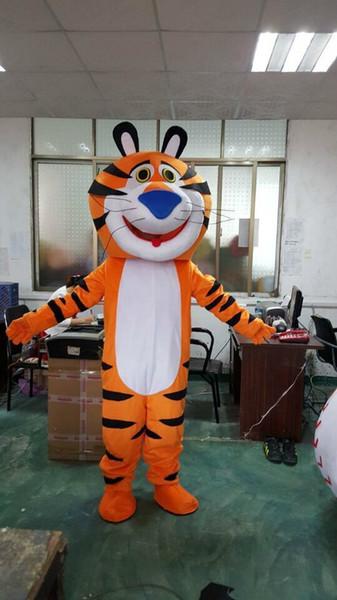 Le Tigre Costume De Mascotte Jaune Roi Tigre De nombreux Vêtements Costume De Mascotte D'ours Animal Cartoon Fantaisie Robe Taille Adulte Livraison Gratuite