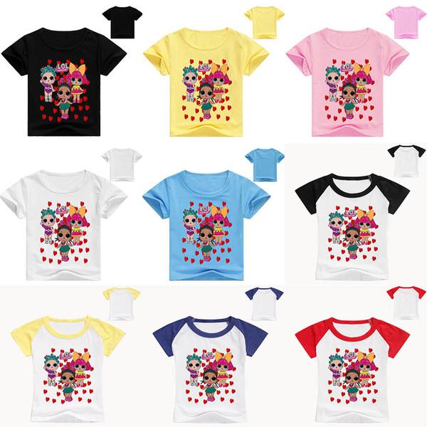 11 stil LOL puppen Kinder Kleidung Sommer Baby Kleidung Cartoon mode Druck für Jungen mädchen Outfits Kleinkind Mode T-shirt strand puppe