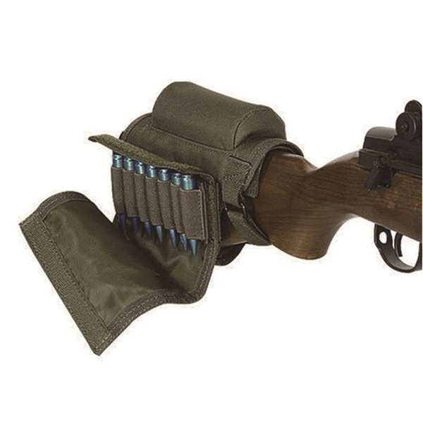 Hunting Shooting Rifle Nylon Cheek Rest Pouch With Maganize Pouch Tactical Rifle Gun Buttstock Shell Holder #853262