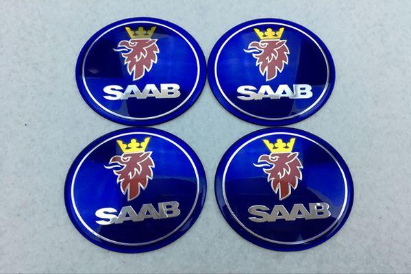 top popular 56.5mm 65mm Car Emblem Wheel Center Hub Cap For SAAB 9-3 9-5 93 95 BJ SCS Badge wheel Decal Sticker 2021