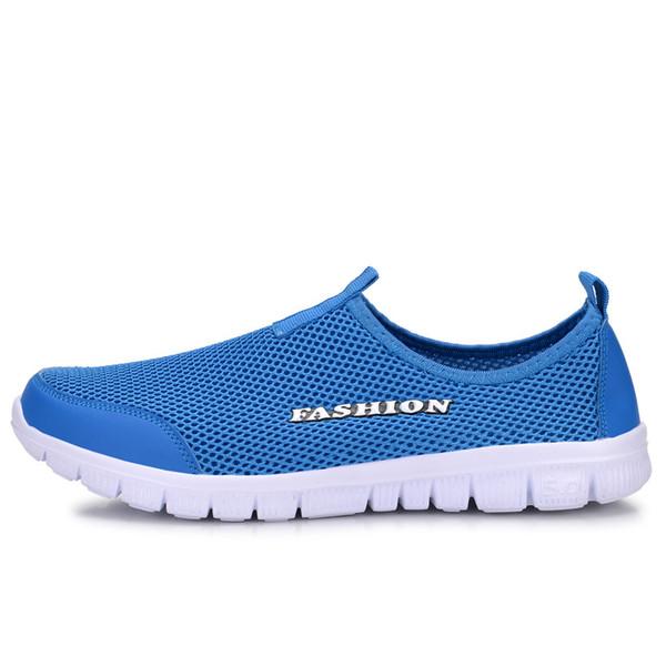 Moda verão sapatos homens casuais air mesh shoes grandes tamanhos 38-46 leve respirável slip-on flats