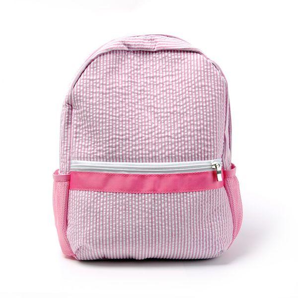 top popular Toddler Seersucker Backpack Pre School Bag Cute Toddler Book Bag Wholesale Fashion Kids Seersucker Backpack DOM-108187 2020