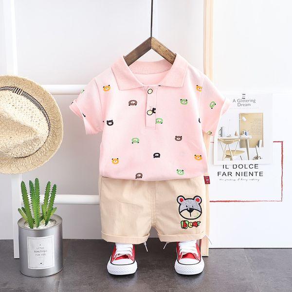 Cherry Pink Sj Solid Color Bear Short Sl