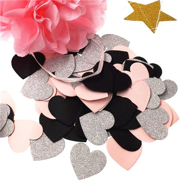 100 adet 3 cm Renkli kalp Şekli Düğün Sprinkles Doku Kağıt Konfeti Boda Doğum Günü Partisi Masa Dekorasyon Pinata Dolgu