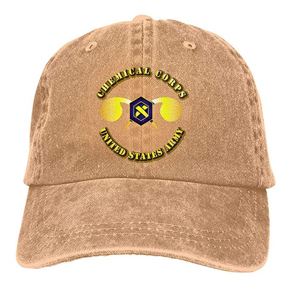 2019 New Wholesale Baseball Caps US Army Chemical Corps Mens Cotton Adjustable Washed Twill Baseball Cap Hat