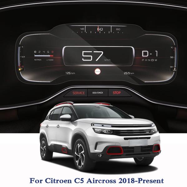 GPS Navigation Screen Steel Glass Film For Citroen C5 Aircross 2018 2019 TPU Dashboard Display Screen Film Car Sticker Accessories