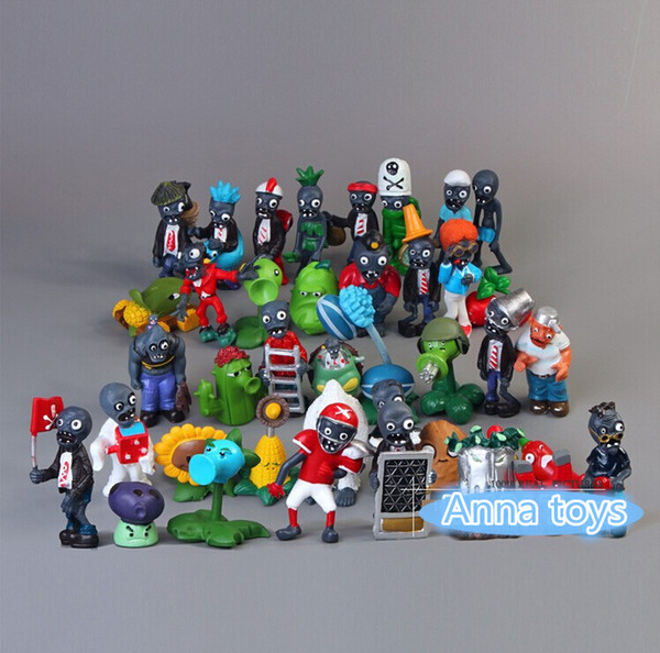 Collect 40pcs/lot Game Plants VS Zombies PVC Action Figures and Plant Collection Figures Garage Kits model Toy kids child Gift