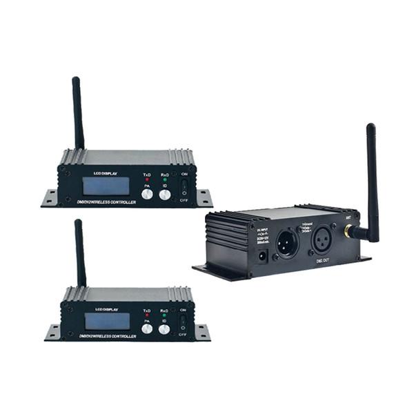 2.4G sem fio DMX 512 Controlador Transmissor Receptor Display LCD DMX Controller Repeater Disco Light Led Par Controlador Luz