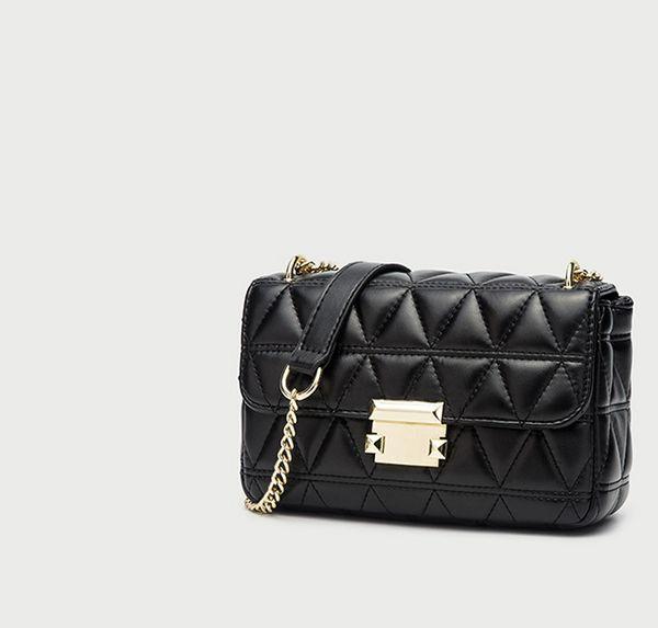 Designer bolsas bolsas Designer Mulheres Cadeia Bag New Autumn Bag Mulheres com Triangle Rhombic Único Bag Lady Bolsa de Ombro /
