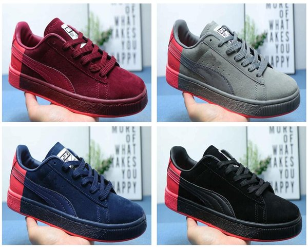 2019 hot sale Free Run Suede X Staple Sports Shoes for men women Suede X Staple Trainer Blackout Racers Roller Shoes sneakers EUR