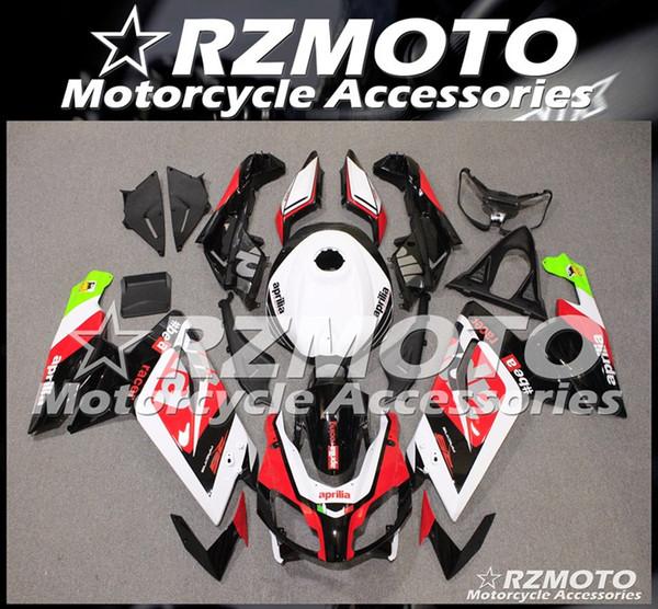 4Gifts Nuovi ABS carenature del motociclo completi Kit In forma per l'Aprilia RS125 2006 2007 2008 2009 2010 2011 set di carrozzeria su misura rosso bianco