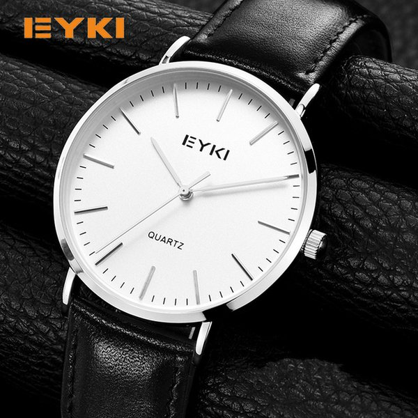Hot Selling Men's Luxury Watches Wholesale Low Price Leather Quartz Business Male Wrist Wataches Fashion D Style W Black Leather Strap Watch