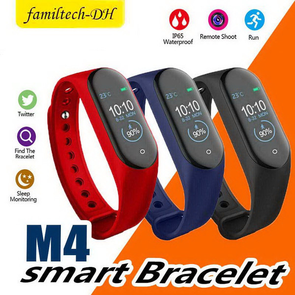 M4 Smart Band Wristband Bracelet Waterproof Sports Activity Fitness Tracker Heart Rate Blood Pressure Monitor Watch for iOS Android Phones