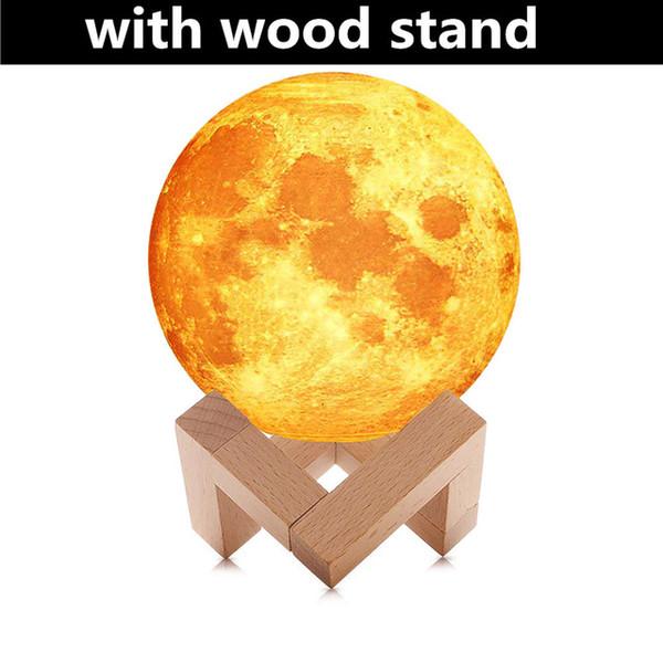 с деревянной подставкой