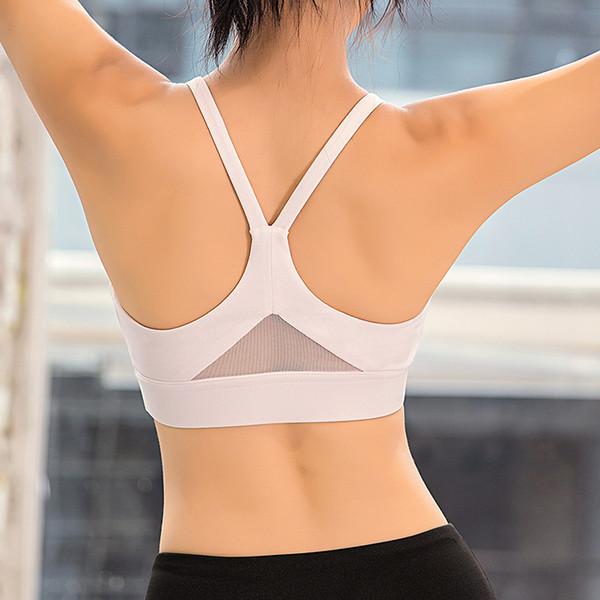 Women Racerback Sports Bra Padded Push Up Yoga Bra Gym Tank Top White Black Red Sport Women Fitness Halter Top Active Wear