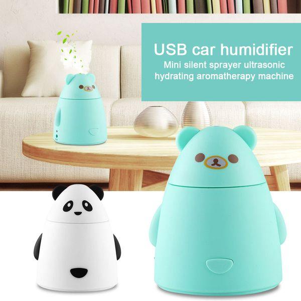 Ultrasonic 80mL Car Humidifier Air Purifier USB Diffuser Mute Reduce Radiation Aroma Fashion Nebulizer