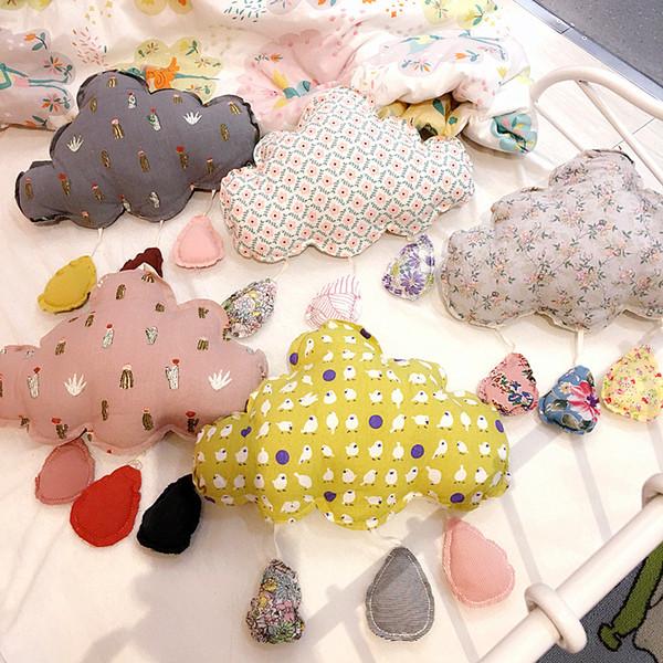 Дети шкентелей облака птиц цветочные узоры Девушки Детские Декор Boutique Аксессуары для детей День рождения Подарки Игрушки Nursery Декор M594