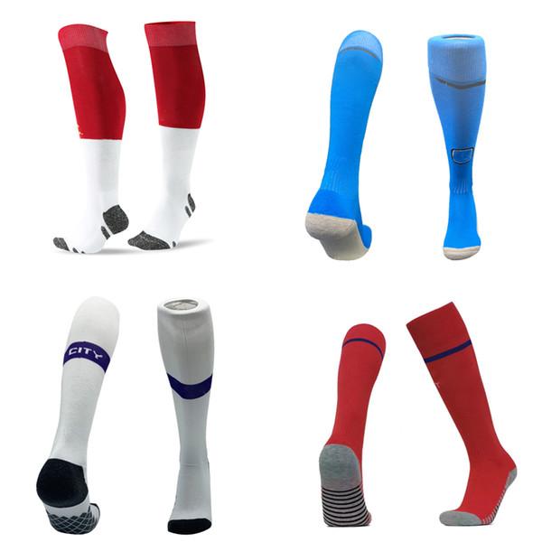 Professionelle Sport Fußball Socken Für Erwachsene Kinder Männer Football Club Kniehohe Übungstraining Kinder Lange Strumpf Socken Thai Qualität