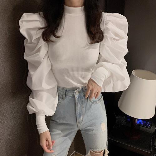 weißen Pullover