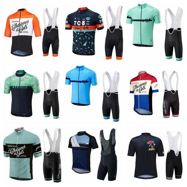 NUEVA Morvelo Ciclismo Conjunto de mangas cortas Ropa de bicicleta de carreras Ropa de ciclismo mtb de verano para hombres ropa barata-ropa-china 9