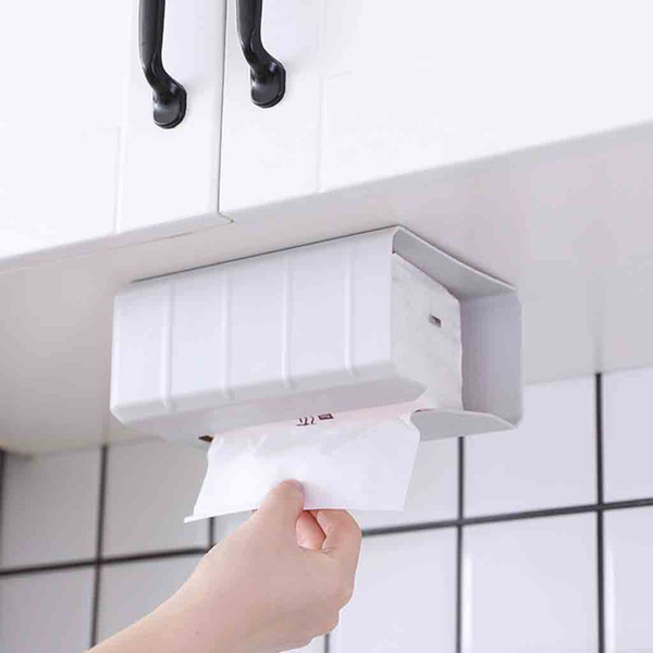 2019 Home Decoration Accessories Banheiro Waterproof Bathroom Punch Free Toilet Tissue Tray Paper Rack Roll Paper Box Tool 2020 From Hilery 34 35