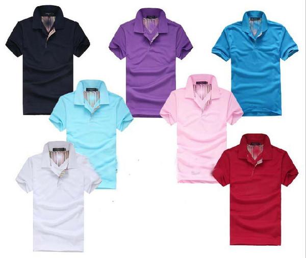 2018 bordados verão cavalo camiseta polo homem 100% algodão polo camisas Pony shirt Sólidos Homens de manga curta Camisas Casual do homem T