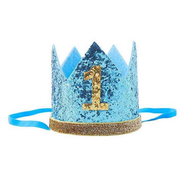 Baby Girl primer cumpleaños sombrero diadema corona 1/3 años de edad princesa Hairband accesorios de fotos Baby Shower Party Supplies