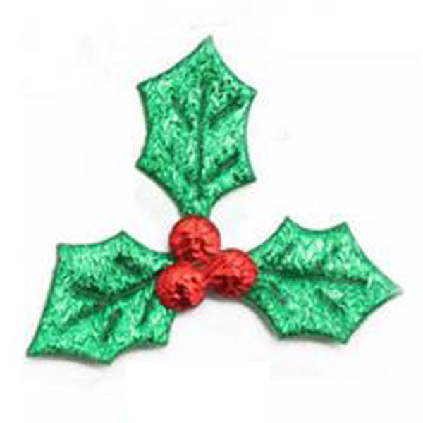 New Green Leaves Red Berries Applique Merry Christmas Ornament Gift Box Accessory Diy Craft Home Decoration Christmas Tree Ornaments