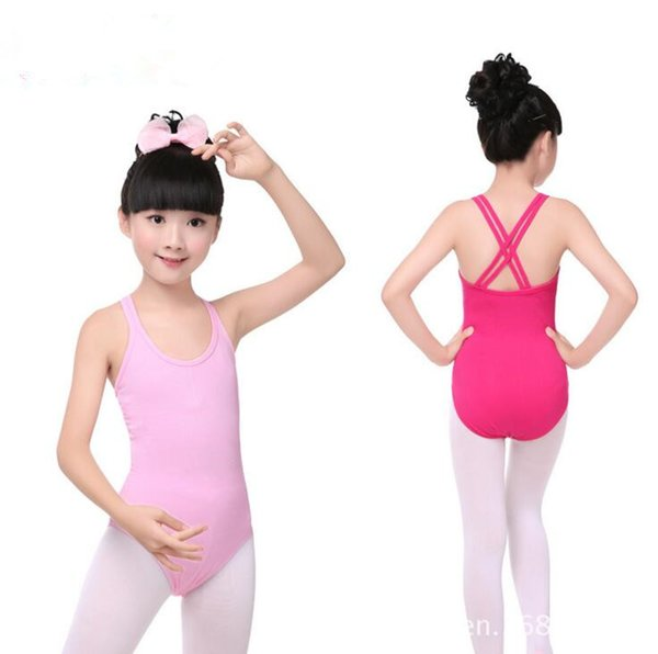 Kinder Designer Kleidung Trikot Mädchen Ballett Gymnastik Body Tanzanzug Dancewear Doppelkreuzgurt Kinder Mädchen Yoga Ärmelloses Kleid LT424