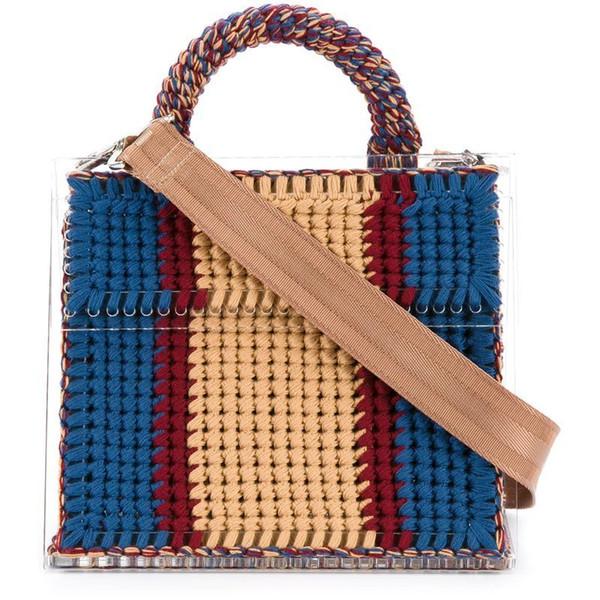Acrylic Woolen Wool Knitting Handbag Lady Women Hand-woven Satchel Purses Tassel Small Brand Designer Daily Tote Messenger Bag D19011204