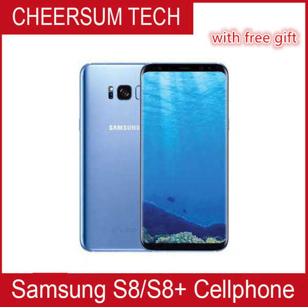 """with gift Samsung Galaxy S8 S8 Plus Original Unlocked 4G LTE Android Phone Octa Core 6.2"""" 12MP RAM 4GB ROM 64GB Cell Phone"""