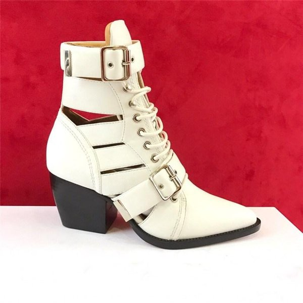 Autumn and winter high heel sandals boots ,Locomotive style design lace-up breathable sandals for women with box size 35-41